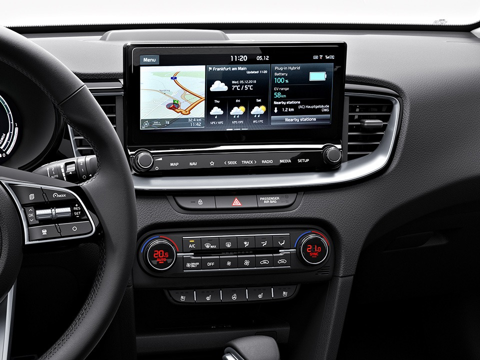 kia ceed sportswagon plug-in hybrid navigationssystem mit 10,25-zoll-touchscreen